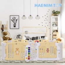 Haenim Toy Signature  Baby Room With Activity Center Yellow Play Yard