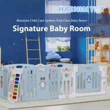 Haenim Toy Signature  Baby Room With Activity Center Sky Blue Play Yard