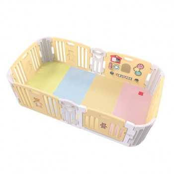 Haenim (Korea) Signature Baby Room With Activity Center (Light Yellow) with Color Foldable Play Mat