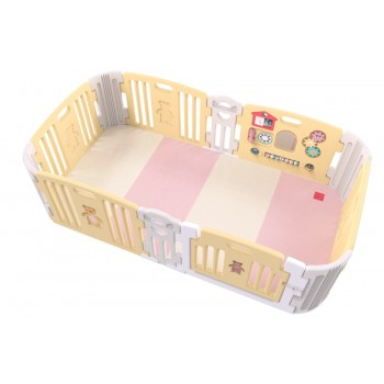 Haenim Toy Signture Baby Room With Activity Center Yellow Play Yard With Play Mat