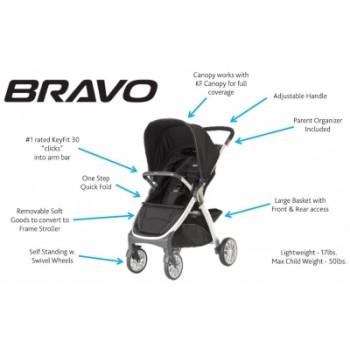Chicco Bravo Travel System Lilla USA (6m+) - 2 in 1 (Brown)