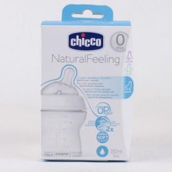 Chicco NaturalFeeling Bottles 150ml 0%BPA Regular Flow
