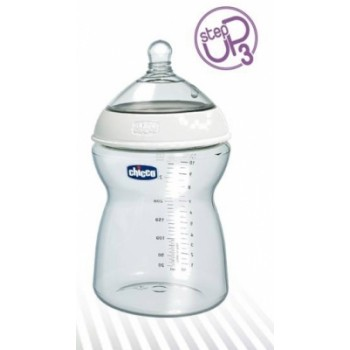 Chicco Step Up 3 Feeding Bottle - Food Flow - Plastic 0% BPA - 330 ml