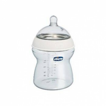Chicco Step Up 2 Feeding Bottle - Adjustable Flow - Plastic 0% BPA - 250 ml