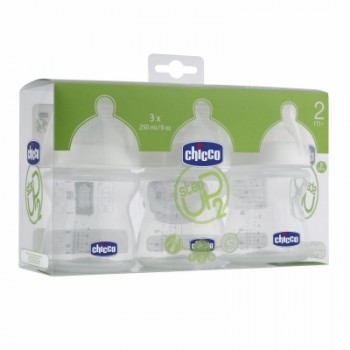 Chicco Step Up 2 Tripack 250ml adjustable flow - silicone
