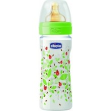 Chicco Wellbeing Feeding Bottle 250ml 0% BPA Adjustable Flow - SiliconeTeat