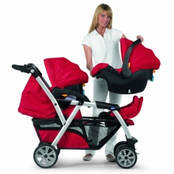 Chicco Together Twin Stroller (Red)