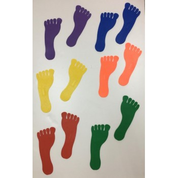 Foot Prints Floor Marker (Set of 12pcs)