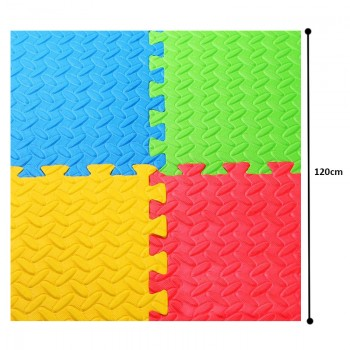 Eva Foam Puzzle Floor Mat @4pcs Mix Color