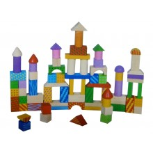 Multi-colored Wooden Block Set (100pcs)