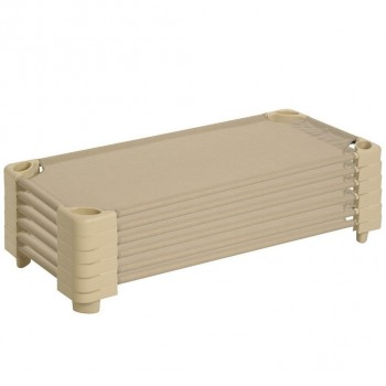 Children Stackable Cot 6pcs/box (Nature)