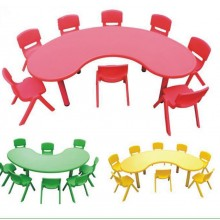 Kidney Table with 6 Chairs