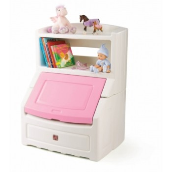 Step 2 Lift & Hide Bookcase Storage Chest Pink