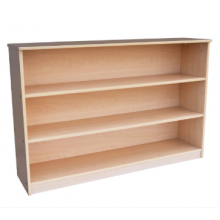 Hardwood Display Shelf wt Back Panel
