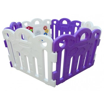 Haenim (Korea) Baby Play Yard 6 Panel Petit With Activity (Purple + White)