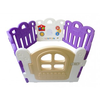 Haenim (Korea) Baby Play Yard 6 Panel Petit With Activity (Purple + White)