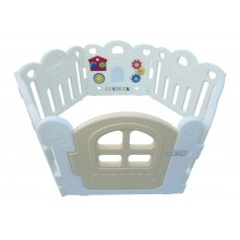Haenim (Korea)  Baby Play Yard 6 Panels Petit  With Activity (White)