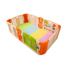 Haenim (Korea)Baby Play Yard 6+6 Panel Beige With Activity + Foldable Play Mat