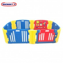 Haenim (Korea) Baby Play Yard 6 + 6 Panel with Activity (Blue)