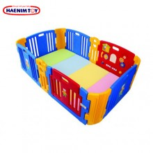 Haenim (Korea)Baby Play Yard 6+6 Panel Blue With Activity + Foldable Play Mat