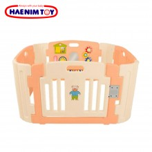 Haenim Toy (Korea) Baby Play Yard 4 Panel with Activity (Rose Gold)