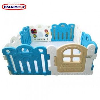 Haenim (Korea) Baby Play Yard Petit 8 Panels Blue