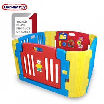 Haenim (Korea) Baby Play Yard 4 Panel with Activity (Blue)