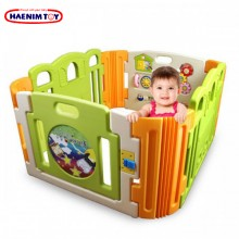Haenim (Korea) Baby Play Yard 4 Panel with Activity (Cloud Bread)
