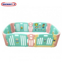 Haenim (Korea) Baby Play Yard 6+6 Panel Mint Pink With Activity