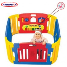Haenim (Korea) Baby Play Yard 4 Panel with Melody (Blue)