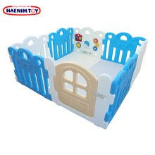 Haenim (Korea) Baby Play Yard Petit 8 Panels Blue + Foldable Play Mat