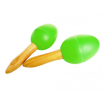 Egg Maracas With Handle / Pair