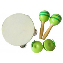Musical Percussion Set with Packaging (Green)