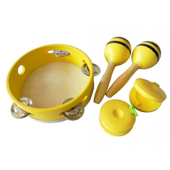 Musical Percussion Set with Packaging (Yellow)
