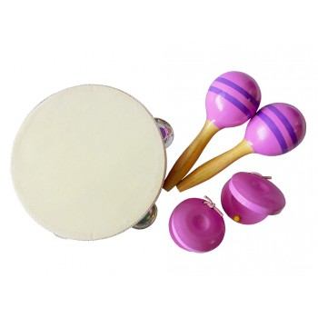 Musical Percussion Set with Packaging (Purple)