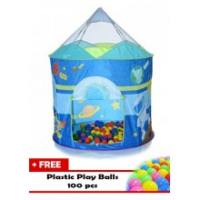 Ching Ching Spaceship Play Tent + 100 Balls