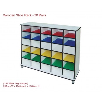 Wooden Shoe Rack - 30 pairs