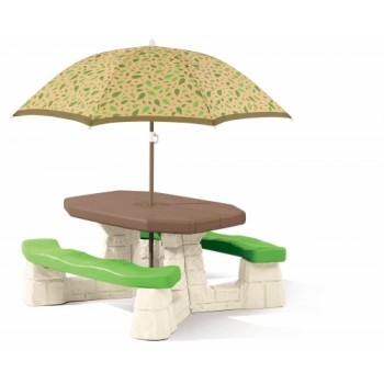 Step 2 Picnic Table with Umbrella Active Bright
