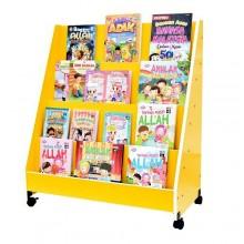 Single-sided Bookshelf with Castor