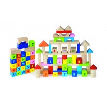 3cm ABC & 123 Wooden Block Set - 100pcs
