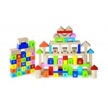 3cm ABC & 123 Wooden Block Set - 100pcs