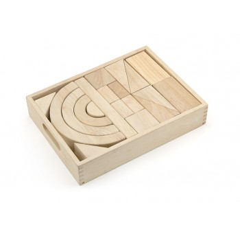 Natural Wood Color Block Set - 42 pcs