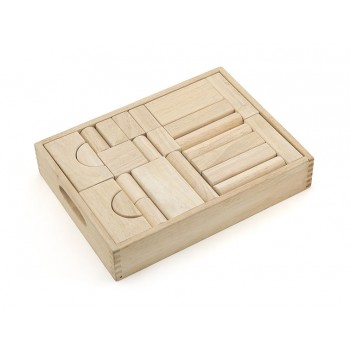 Natural Wood Color Block Set - 46 pcs