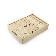 Natural Wood Color Block Set - 48 pcs