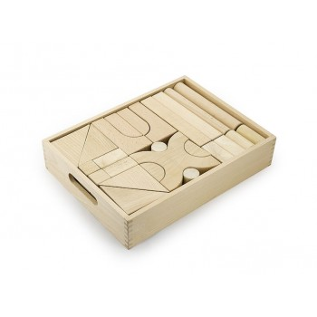 Natural Wood Color Block Set - 48 pcs