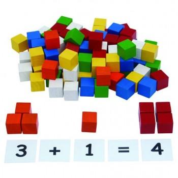 2.5cm Wooden Cubes (102 cubes)