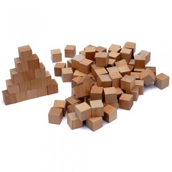 2cm Wooden Cubes (Plain)