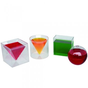 6pcs Clear Plastic Geometric Volume Set