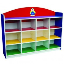 12 Level Multi-Coloured Adjustable Shelf