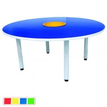 4' Round Table with Basket